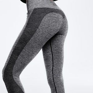PINK SPORT Victoria's Secret Gray Seamless Workout Tight Large